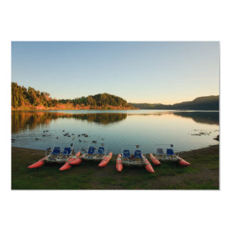 Furnas lake at sunset card