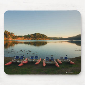 Furnas lake at sunset mouse pad
