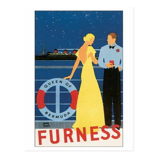Furness Queen of Bermuda Postcard