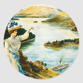 Furness Railway ~ Lady of the Lake Classic Round Sticker