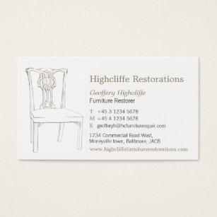 Antique furniture business cards templates zazzle furniture antique chair restorations business card colourmoves