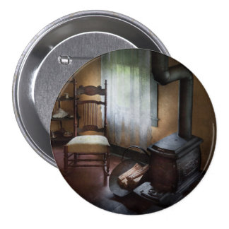Furniture - Chair - Happiness is a warm seat Pinback Button
