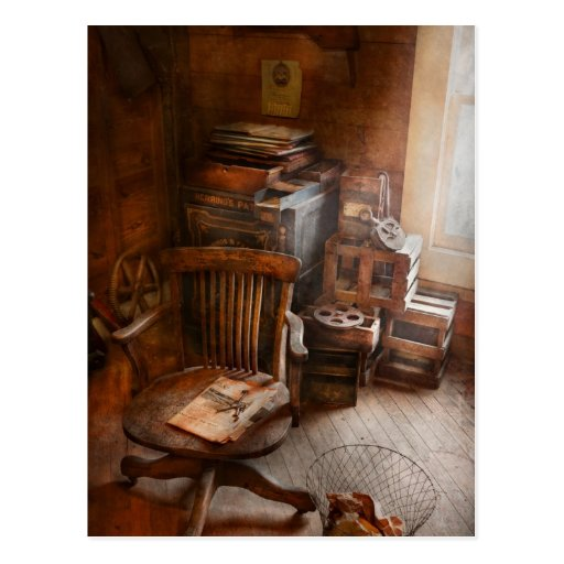 Furniture - Chair - The engineers office Postcard