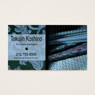 Furniture Designer, Home Stager, Fabrics, Textiles Business Card
