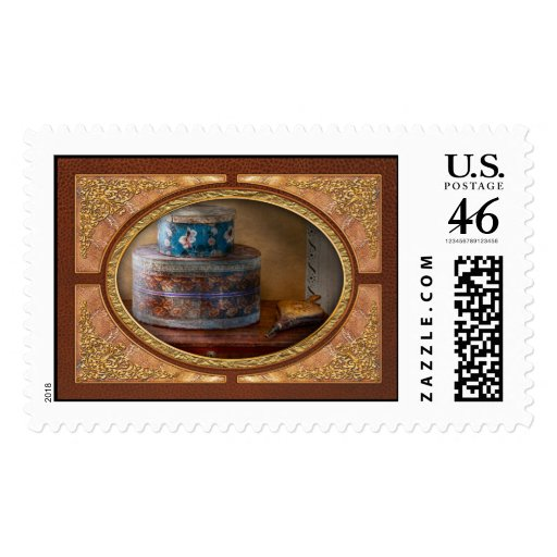 Furniture - Hat boxes with billow Postage Stamp