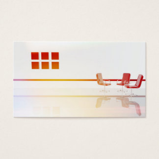 Furniture in the living room design business card