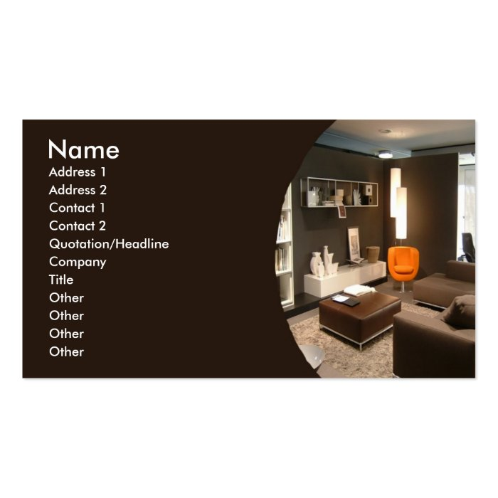 Furniture Interior Design Business Card Zazzle