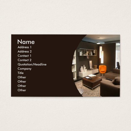 Furniture interior design business card - Business name for interior design company ...