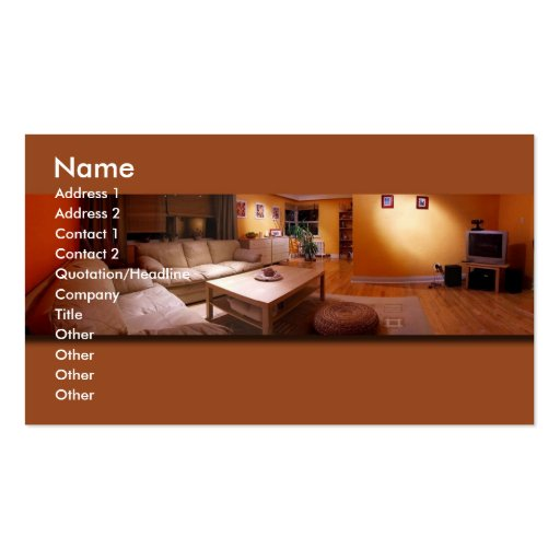 Furniture interior design pack of standard business cards for Business interior designs