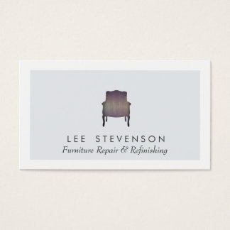 Furniture Repair and Refinishing Wood Chair Business Card