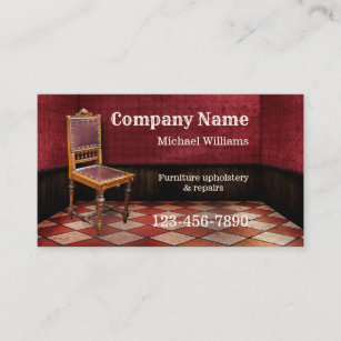 Furniture Repair And Upholstery Business Card