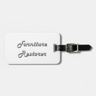 Furniture Restorer Classic Job Design Travel Bag Tag