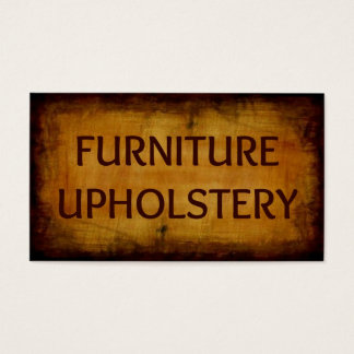 Furniture Upholstery Antique Business Card