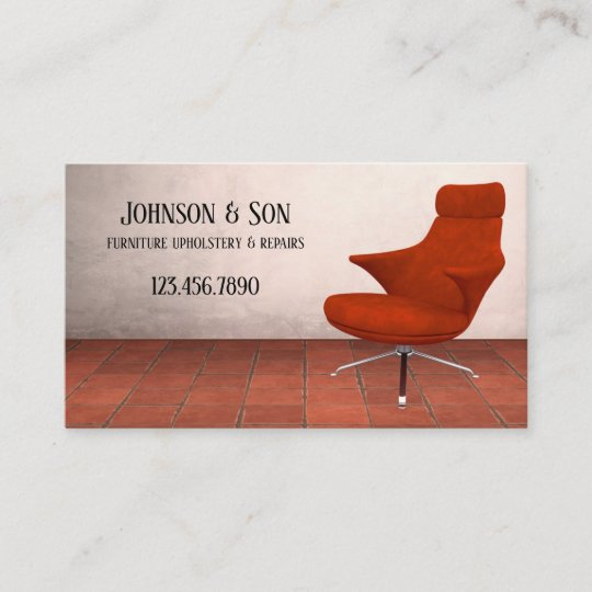 Furniture Upholstery Business Card Zazzle