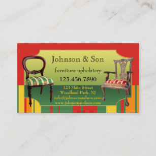 Upholstery Business Cards Zazzle