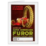 Furor Tires ~ Vintage Automobile Tire Ad Greeting Card