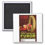 Furor Tires ~ Vintage Automobile Tire Ad Fridge Magnet