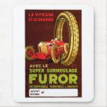 Furor Tires ~ Vintage Automobile Tire Ad Mouse Pad