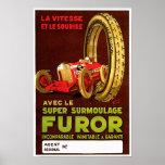 Furor Tires ~ Vintage Automobile Tire Ad Print