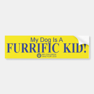 """Furrific Kid"" dog bumper sticker"