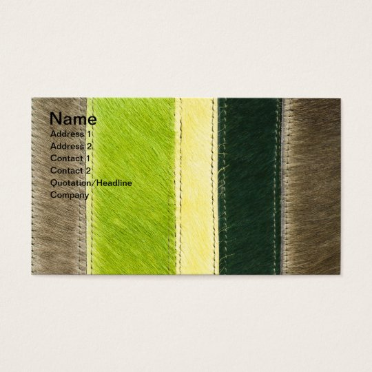 Furry background business card