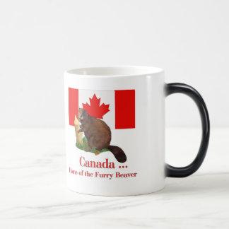 Furry Beaver 11 Oz Magic Heat Color-Changing Coffee Mug