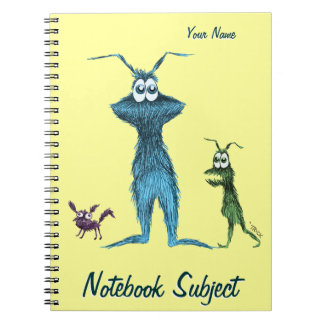 Furry Bigmouthers Spiral Note Books