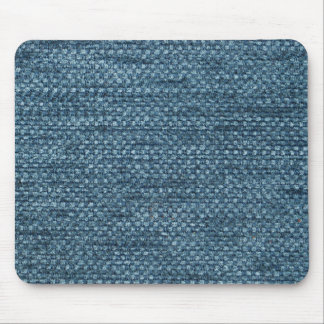 Furry blue strings and blue base mouse pad