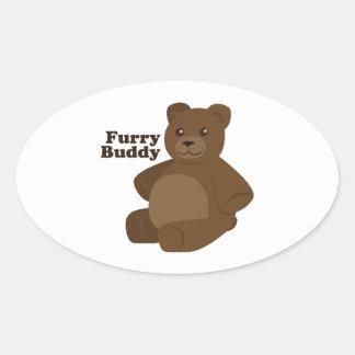 Furry Buddy Oval Sticker