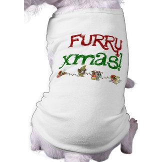 Furry Christmas Dog t-shirt