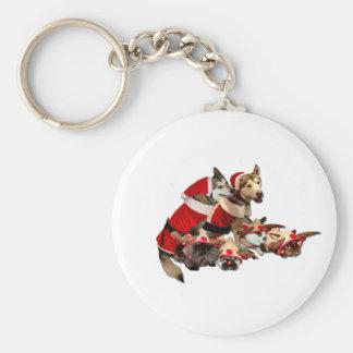 Furry Christmas Friends Key Chains