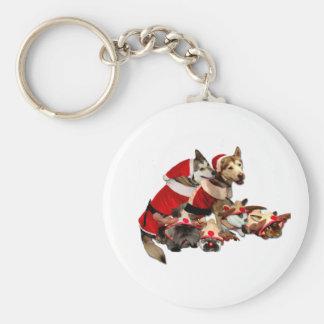 Furry Christmas Friends Key Chain