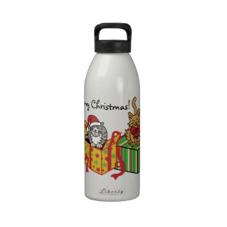 Furry Christmas! Water Bottles