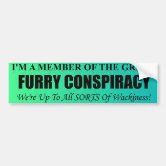 Furry Conspiracy Bumper Sticker