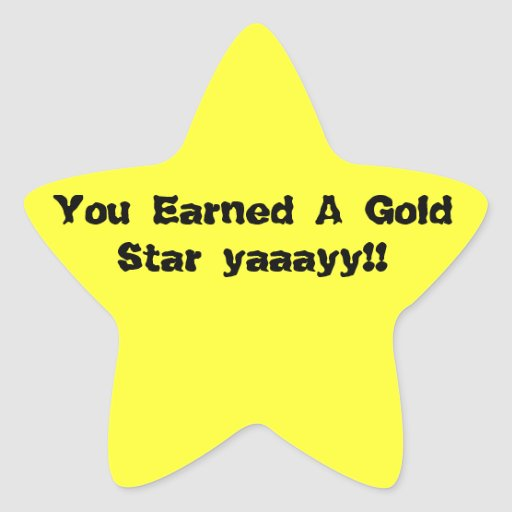 Furry corner official gold stars star stickers zazzle