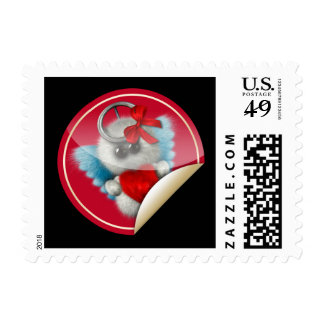 Furry Cupid Postage Stamps