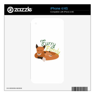 Furry Family iPhone 4S Decal