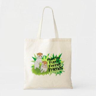 Furry Ferret Friends Tote Bag
