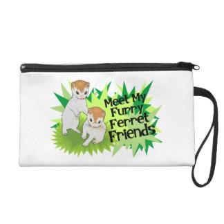 Furry Ferret Friends Wristlet Purse
