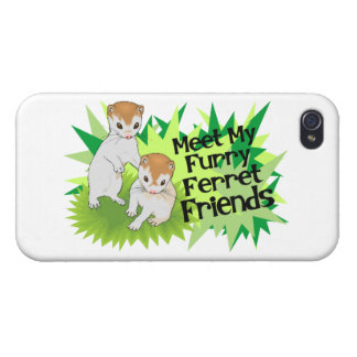 Furry Ferret Friends Covers For iPhone 4