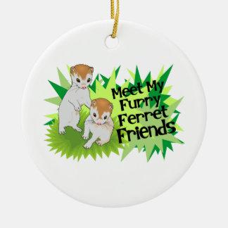 Furry Ferret Friends Christmas Tree Ornaments