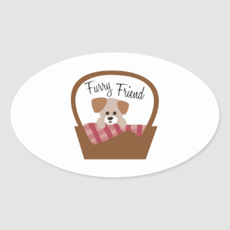 Furry Friend Oval Sticker