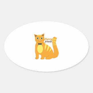 Furry Friend Oval Stickers