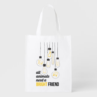 Furry Friends Reusable Bag Market Tote
