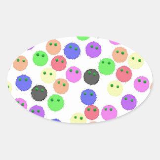 furry friends oval sticker