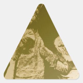 Furry Friends Triangle Sticker