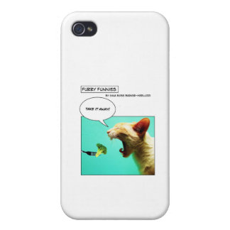 Furry Funnies ~ cat and broccoli iPhone 4/4S Cases