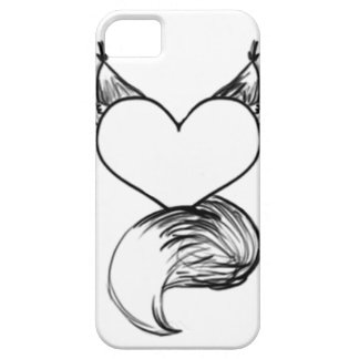 Furry Heart Sketchstyle Phone Case