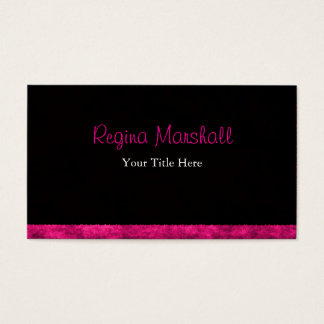 Furry Hot Pink Business Card