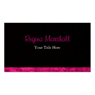 Furry Hot Pink Double-Sided Standard Business Cards (Pack Of 100)